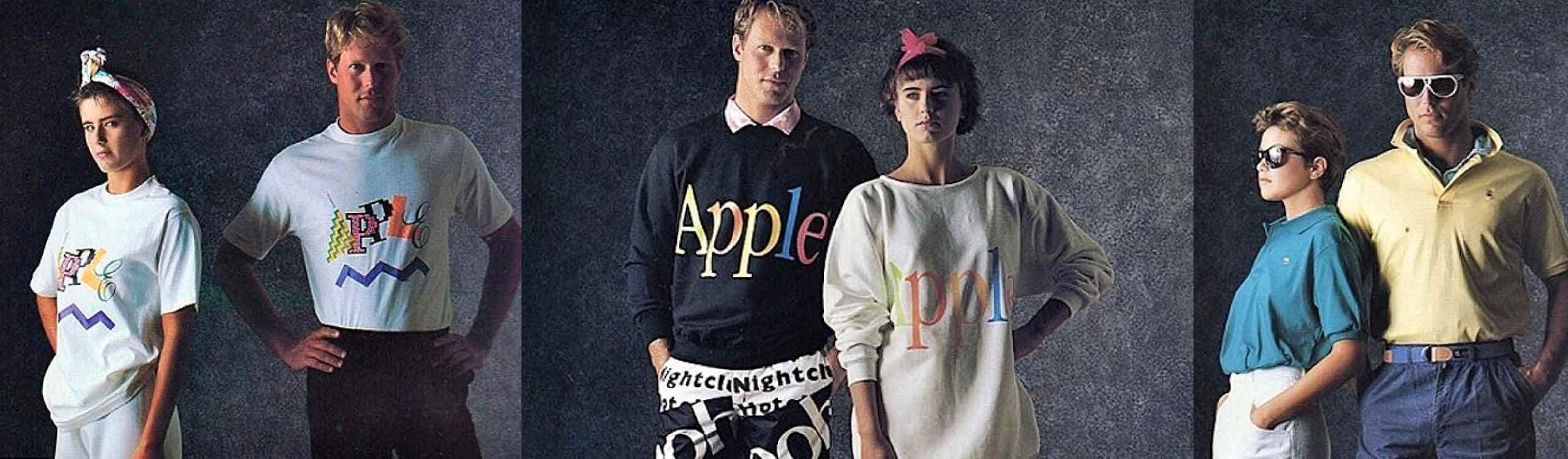 los 80's: cuando apple hacía ropa para modernos