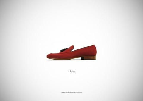 zapatos famosos el papa - mis gafas de pasta