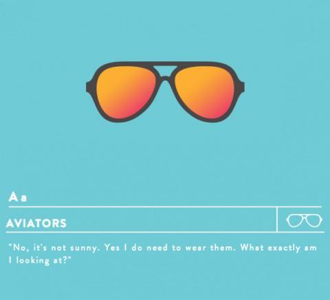 alfabeto hipster mis gafas de pastaa