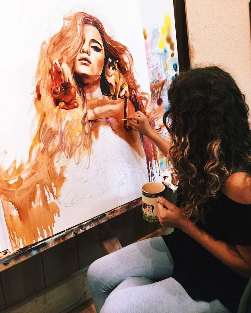 dimitra milan, la niña que convierte sus sueños en ilustraciones