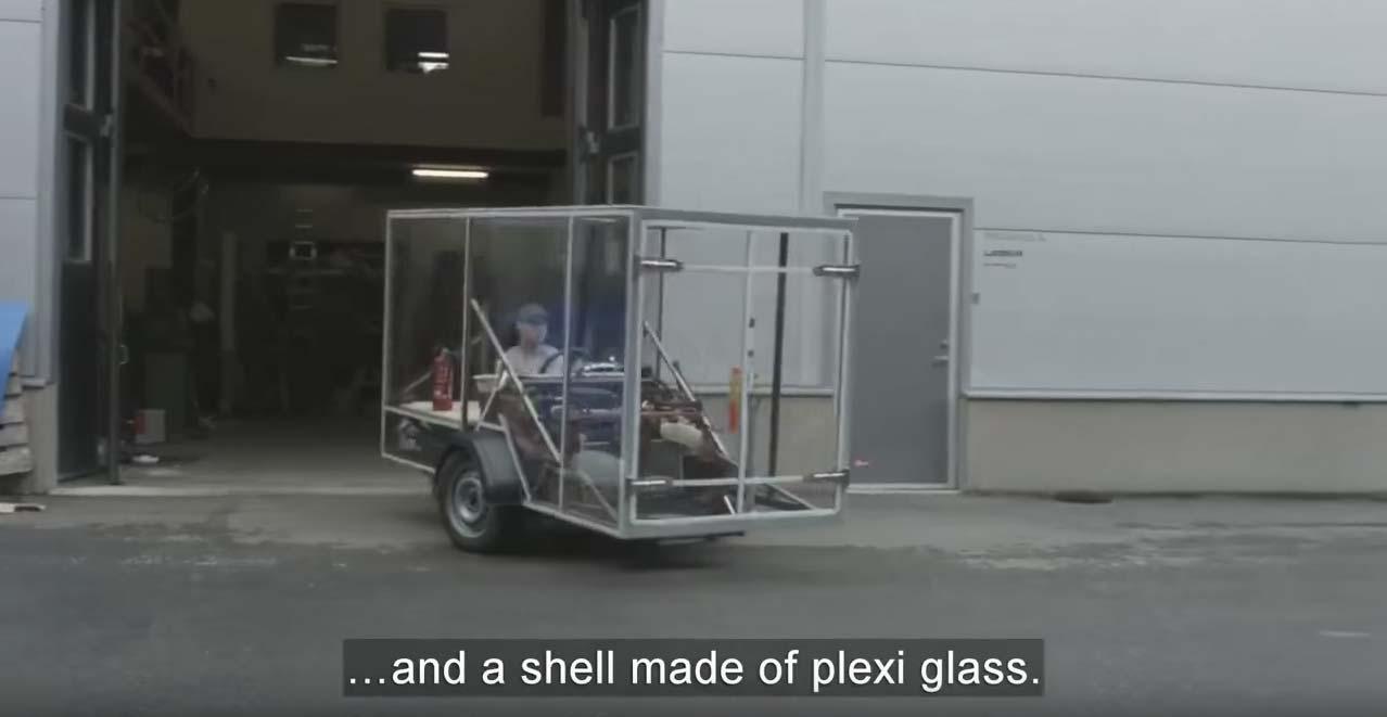 el remolque de volkswagen que va al revés
