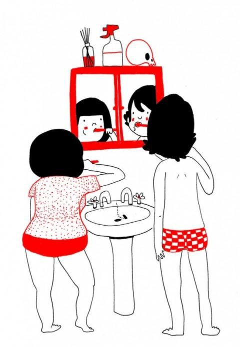 soppy philippa rice. lavandose los dientes