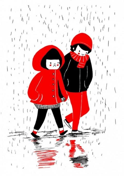 soppy philippa rice. paseando bajo la lluvia