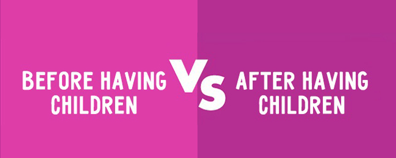 la vida antes y después de tener hijos