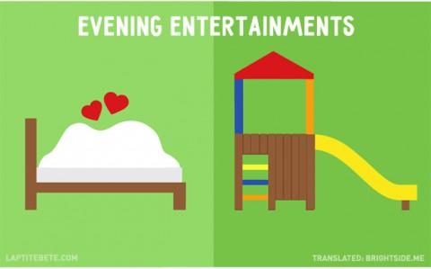 la vida antes y después de tener hijos: entretenimientos nocturnos