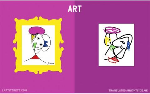 la vida antes y después de tener hijos: arte