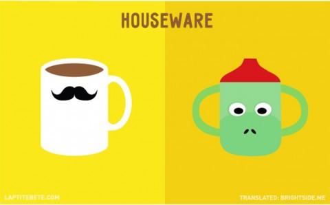 la vida antes y después de tener hijos: menaje del hogar
