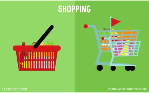 la vida antes y después de tener hijos: de compras