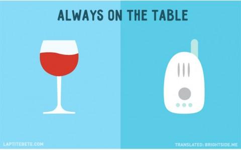 la vida antes y después de tener hijos: sobre la mesa