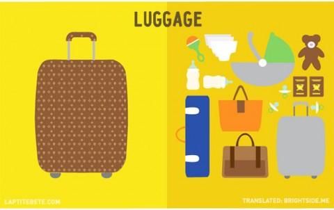 la vida antes y después de tener hijos: equipaje