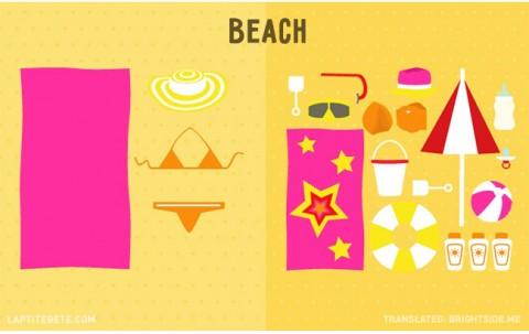 la vida antes y después de tener hijos: en la playa