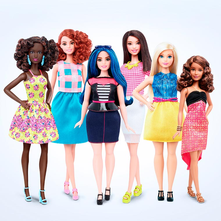 barbie se moderniza y lanza sus versiones curvy, bajita, alta y delgada