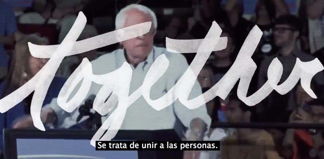 captura de pantalla video viral bernie sanders