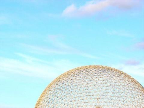 monumentos minimalistas. biosfera