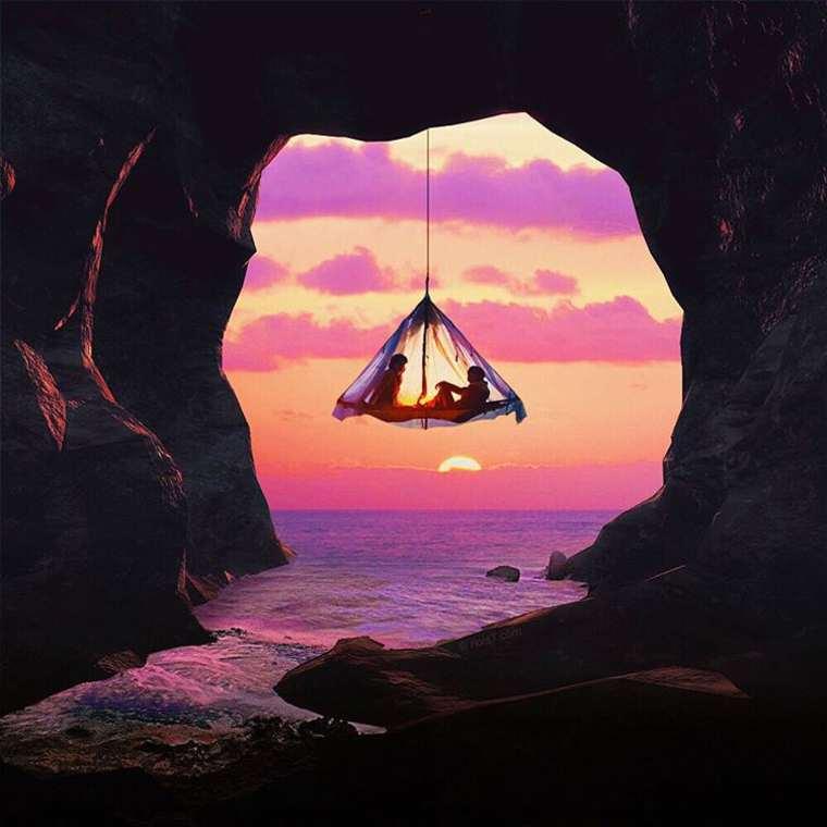las fotazas de rober jahns. colgando en la cueva.