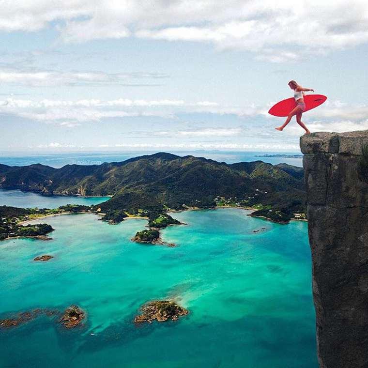 las fotazas de rober jahns. saltando en los fiordos