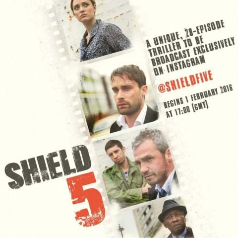 cartel de shield 5, la serie que solo puedes ver en instagram