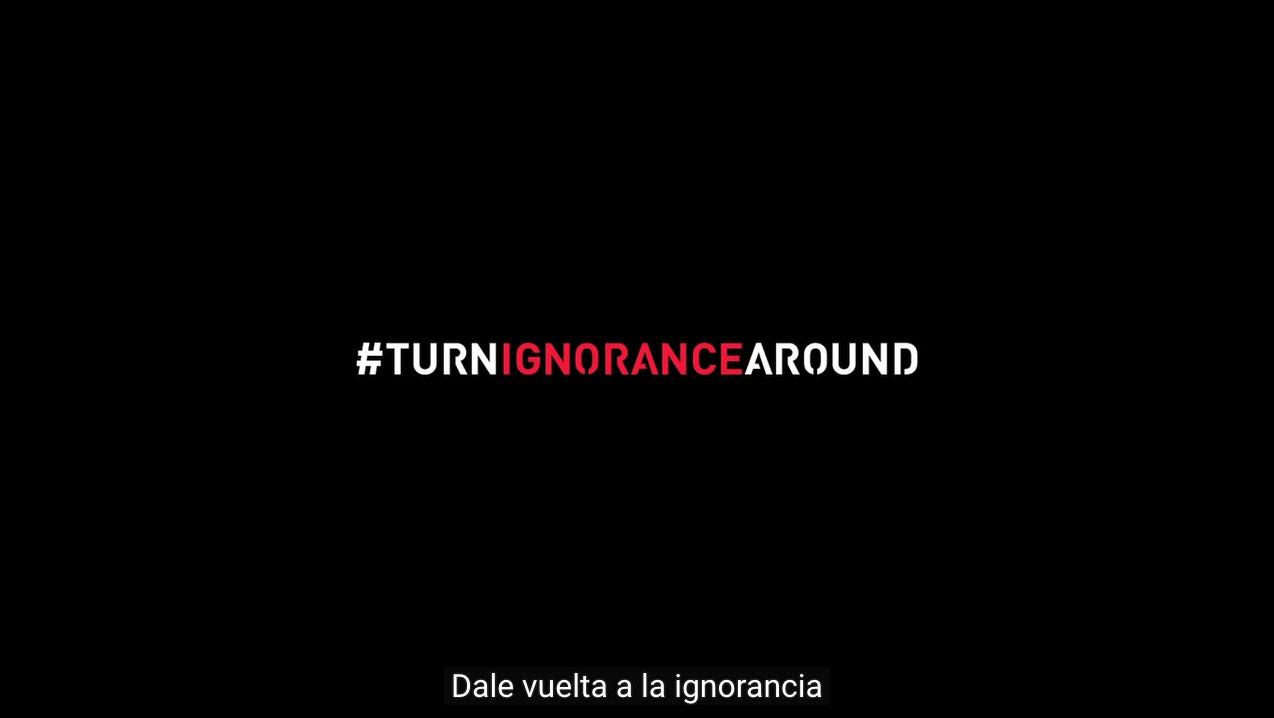 #turnignorancearound, una campaña contra las estupideces de donald trump. captura