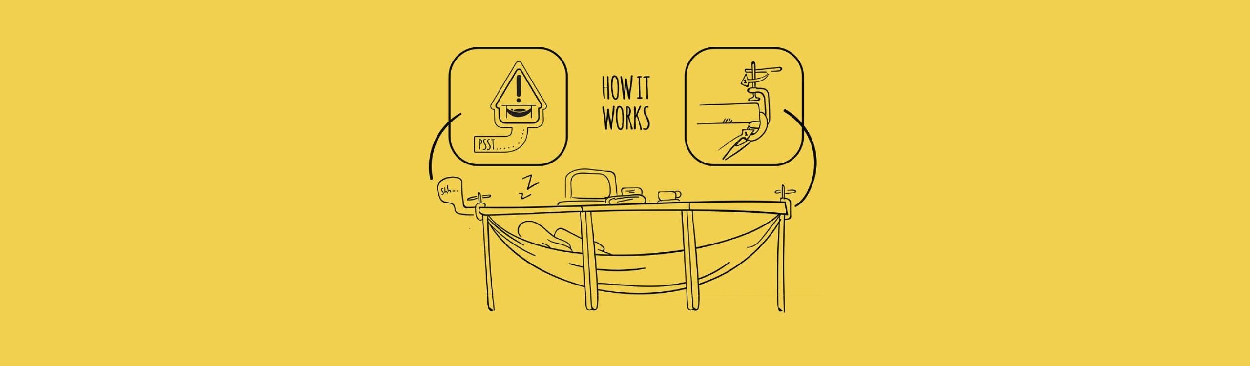 cómo hacer una hamaca para echarte la siesta en la oficina