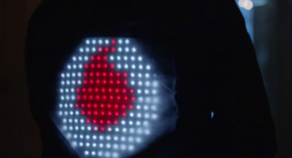 smart jacket de vodafone. luces led