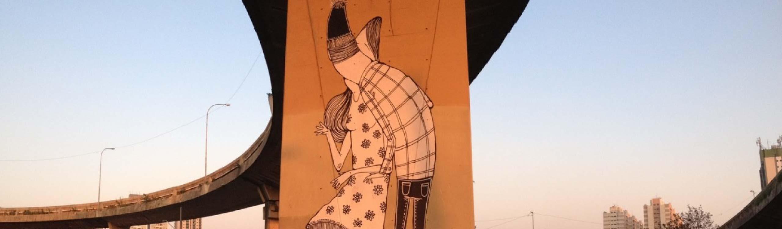 alex senna, el ilustrador que llena las paredes de amor