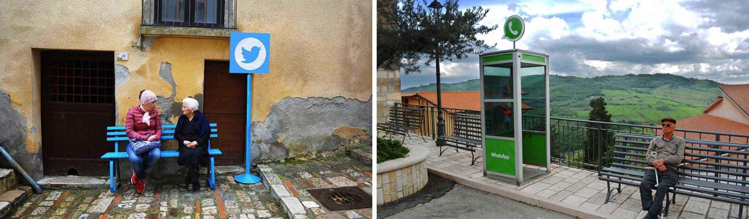 web 0.0. en este pueblo italiano han llevado internet a la vida real