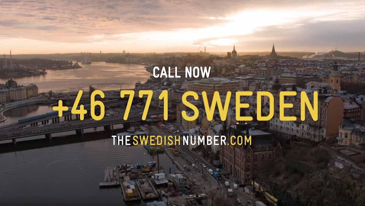 the swedish number, un teléfono para conocer a los habitantes de suecia. captura