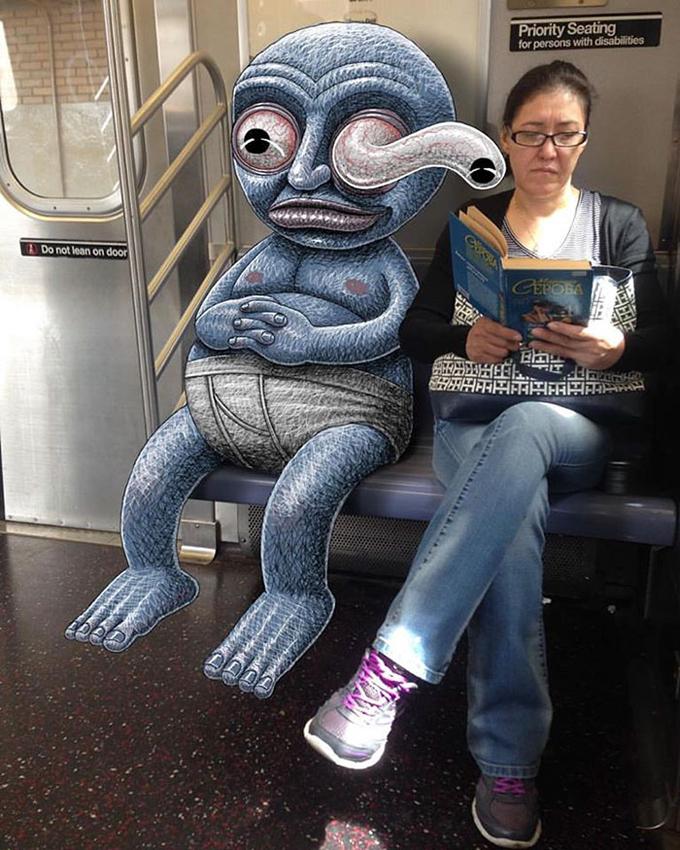 ben rubin criaturas metro new york mis gafas de pasta01