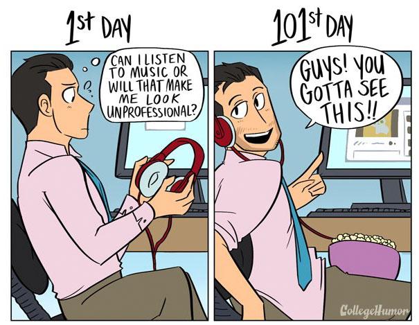 diferencias dia 1 dia 101 en el trabajo mis gafas de pasta01