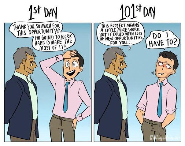 diferencias dia 1 dia 101 en el trabajo mis gafas de pasta05
