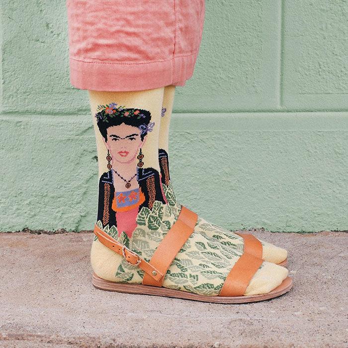 calcetines artisticos mis gafas de pasta frida kahlo