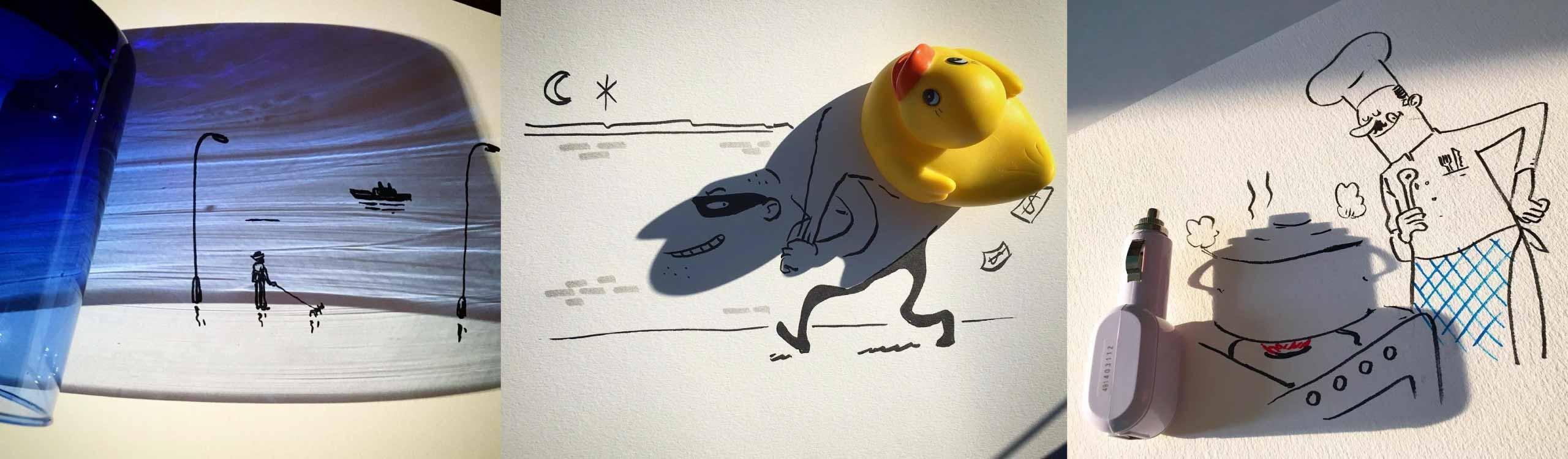 vincent bal, el hombre que dibuja con las sombras en instagram