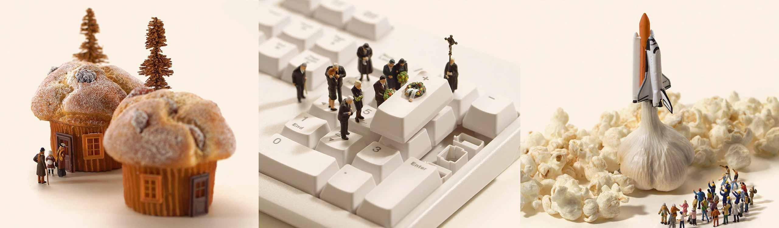 miniature calendar, un calendario lleno de fotos de miniaturas divertidísimas