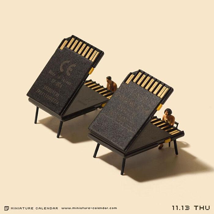 miniature calendar mis gafas de pasta20