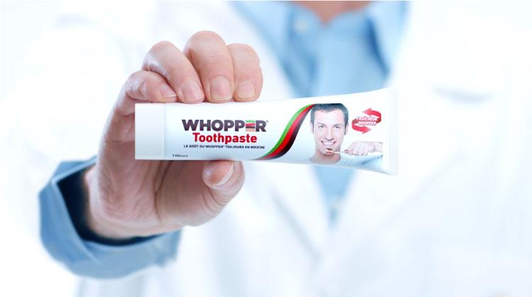 burger king lanza whopper toothpaste, una pasta de dientes con sabor a whopper01