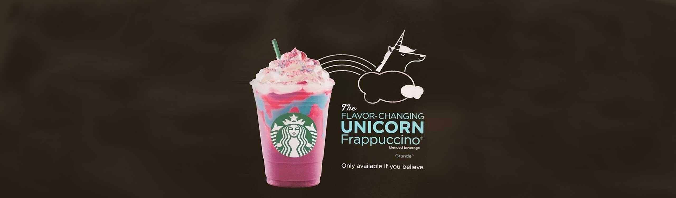 ¿te gustan los unicornios? starbucks ha lanzado un frappuccino solo para ti