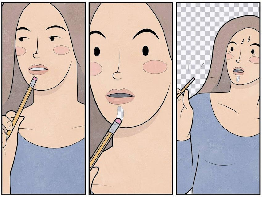 anton gudim ilustraciones improbables mis gafas de pasta07