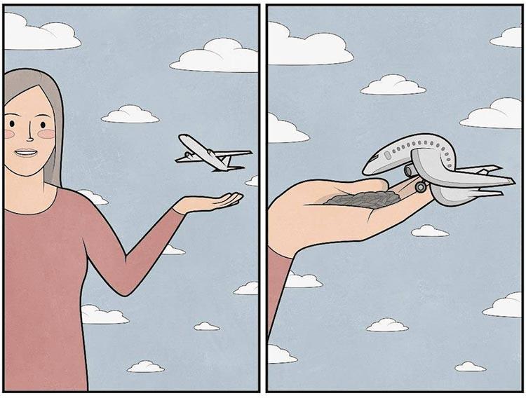 anton gudim ilustraciones improbables mis gafas de pasta08