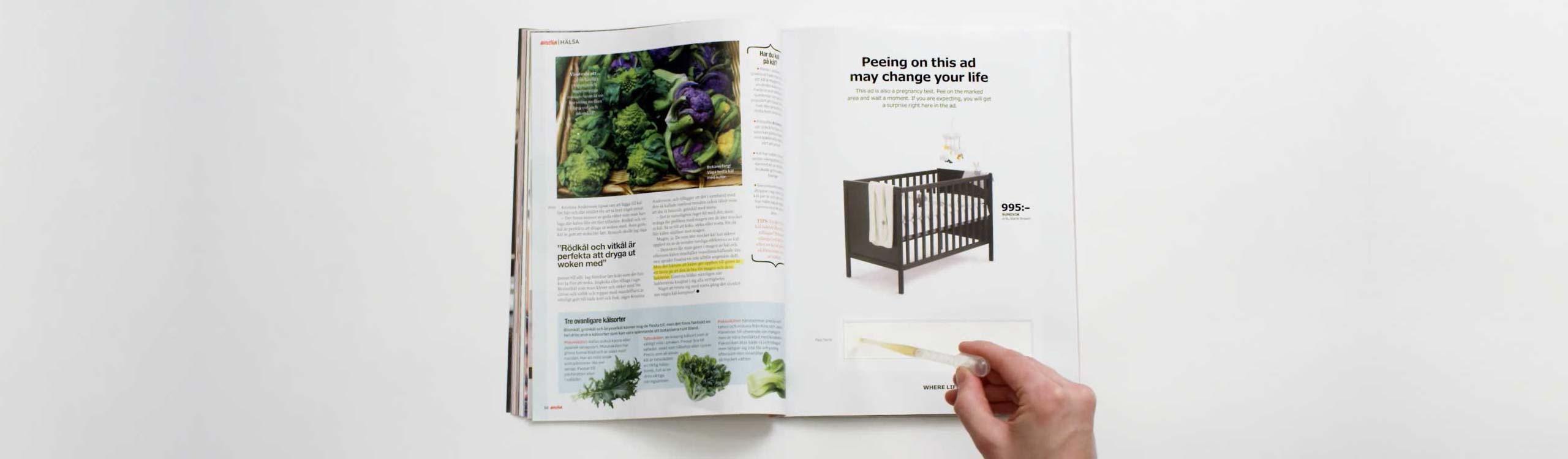 ikea lanza un anuncio que se activa con el pis de las embarazadas