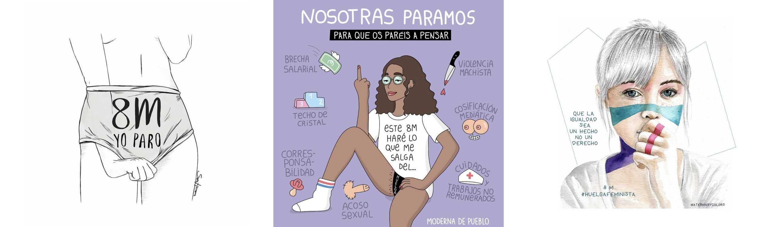 huelga-feminista-ilustraciones-mis-gafas-de-pasta-destacado